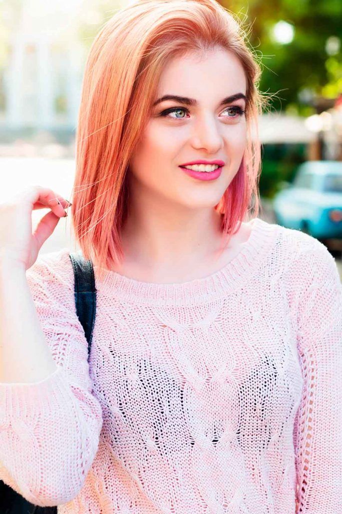 Peachy Tones For Short Hair