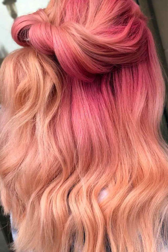 Rose Gold Color for Long Hair