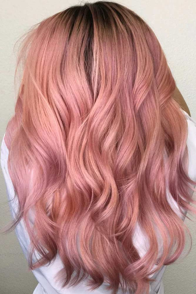 Rose Gold Hair for Brunettes picture2