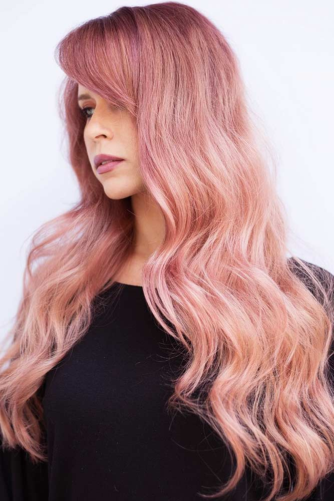 Rose Gold Hair Balayage picture1