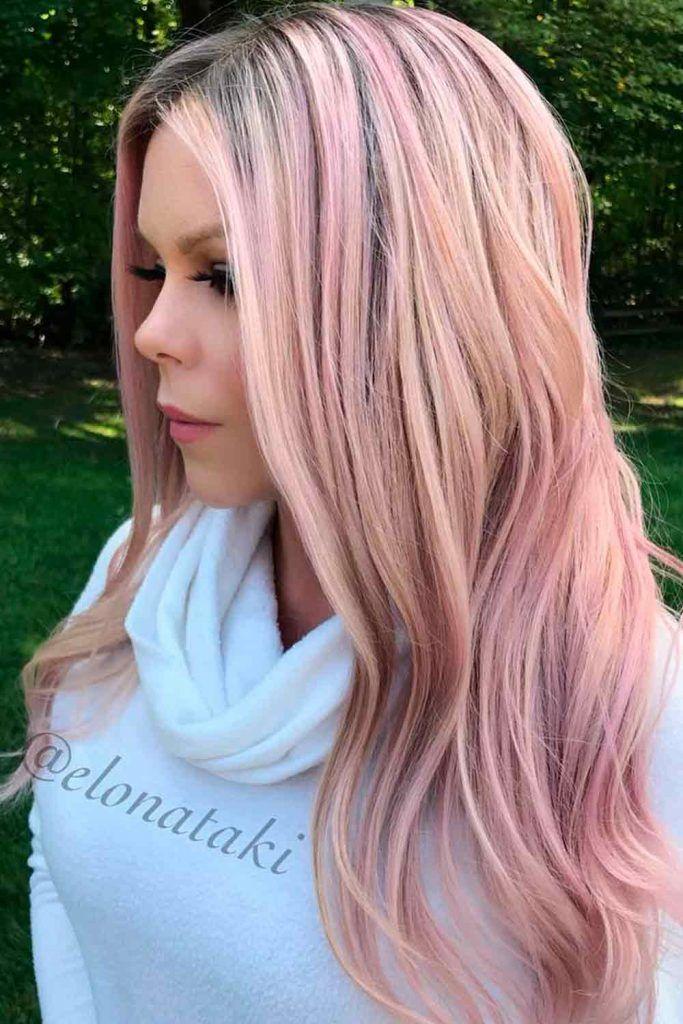 Pale Rose Gold Hair