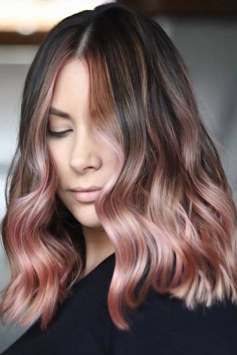 Pale Rose Gold Ombre #rosegoldhair