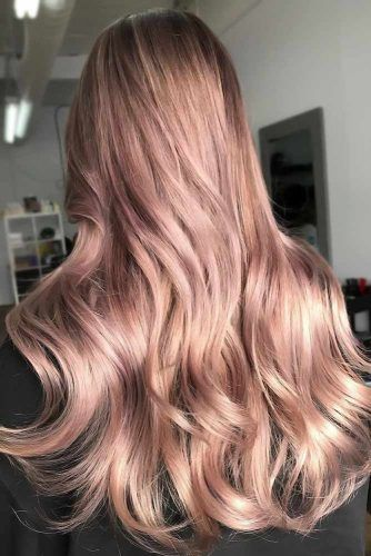 Pale Rose Gold Sleek #rosegoldhair
