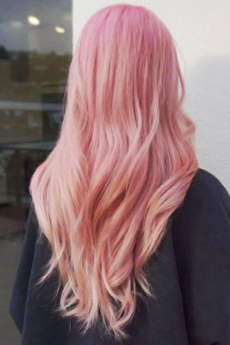 Peachy Tones Layered #rosegoldhair