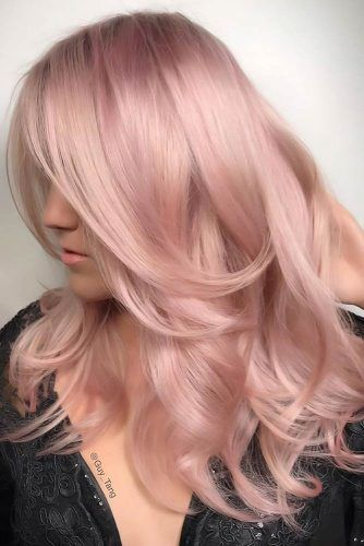 Peachy Tones Waves #rosegoldhair
