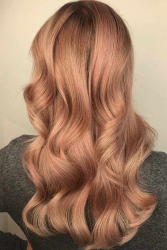 Peach Rose Gold Hair picture3