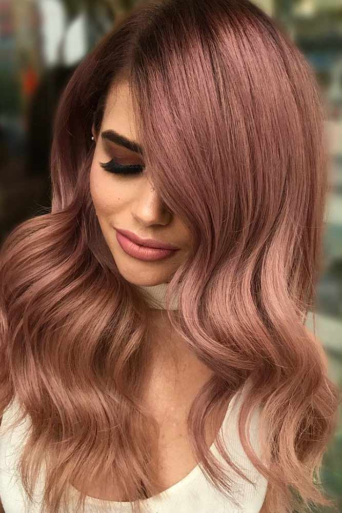 Rose Gold Color for Long Hair picture1