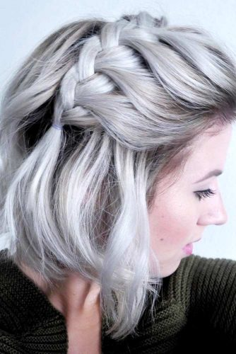 Half-Up with French Braided Bang