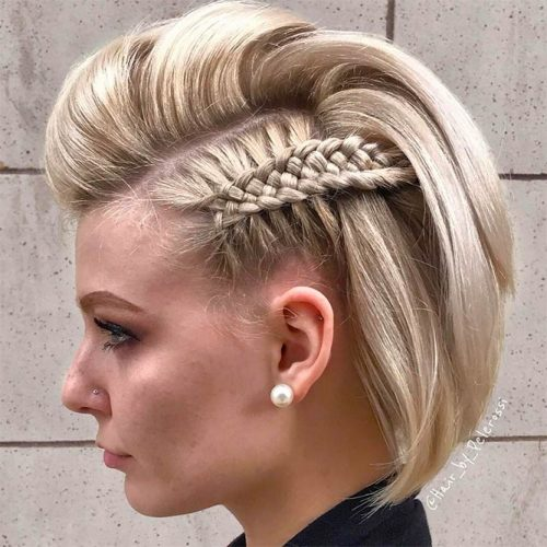 Macrame Braid to Make Your Bob Look Like A Mohawk