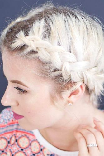 Milkmaid Braid Short Hair