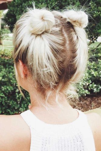 Space Buns for Short Hair