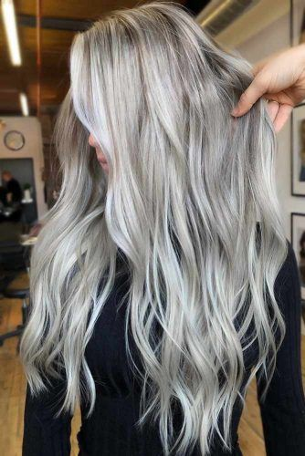 Dirty Silver Tone Waves #silverhair