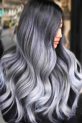 Silver Hair Balayage picture2
