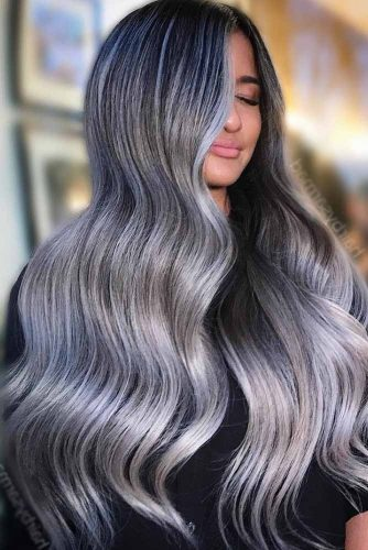 Silver Hair Balayage picture1