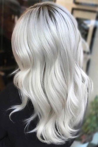 Bright Silver Tone Sleek #longhair #silverhair #wavyhair
