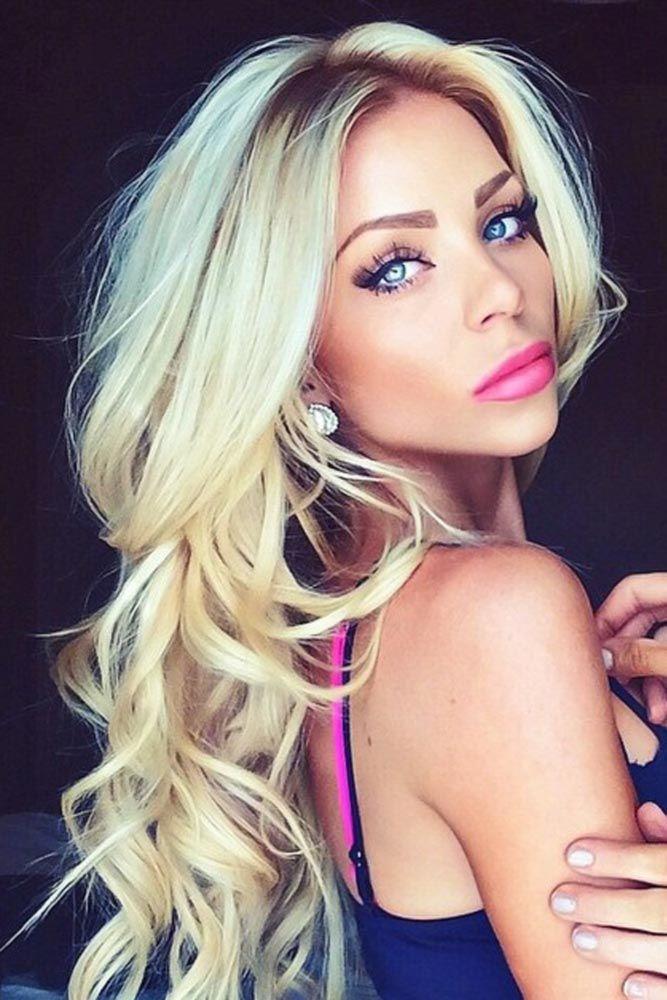 Center Parted Hair Waves Ideas Blonde #wavyhair #wavyhairstyles #wavyhaircuts