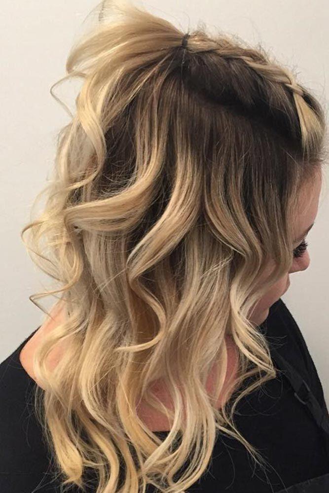 Half-Up Chic Hair Long Waves Braids #wavyhair #wavyhairstyles #wavyhaircuts