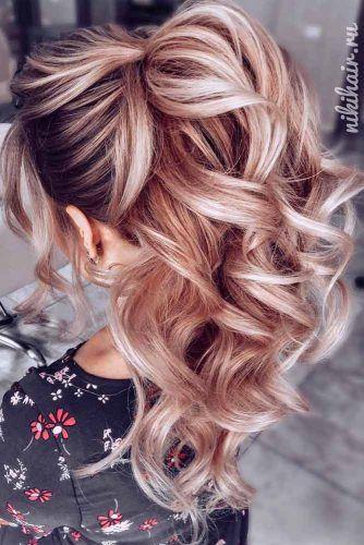 Voluminous High Ponytails #ponytails #wavyhair