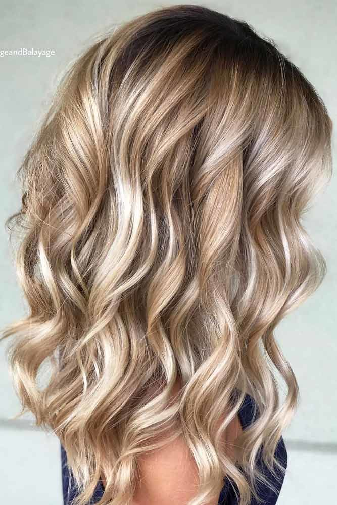 Layered Pretty Hair Waves Highlights #wavyhair #wavyhairstyles #wavyhaircuts