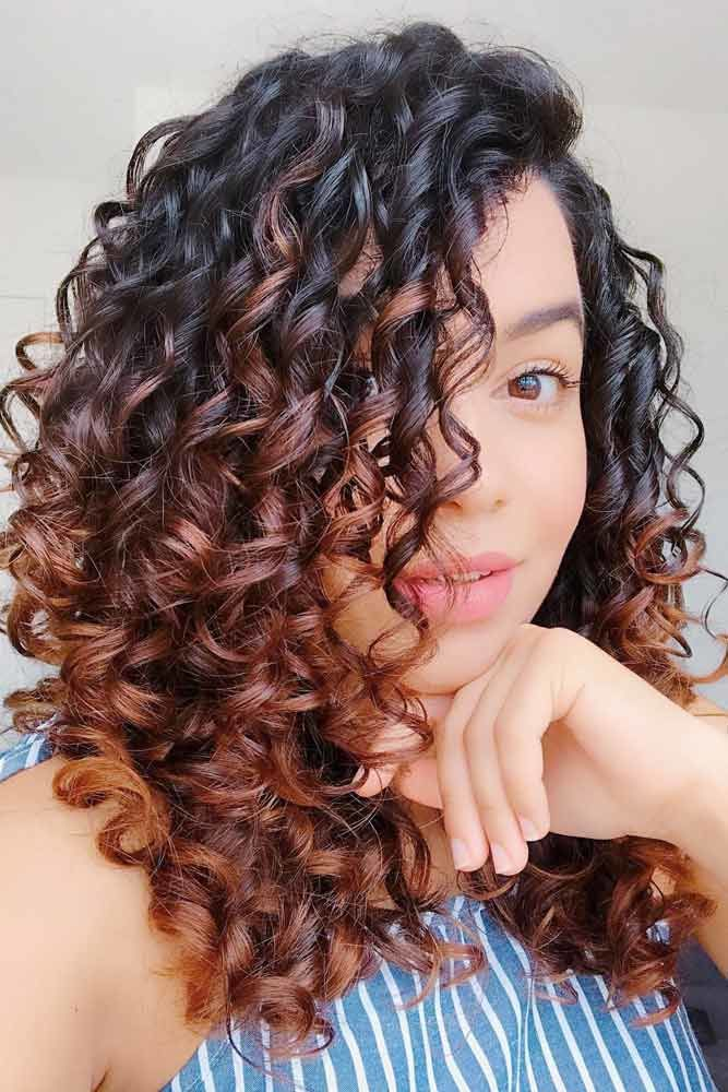 Cute Curly Hairstyles Ombre #wavyhair #wavyhairstyles #wavyhaircuts