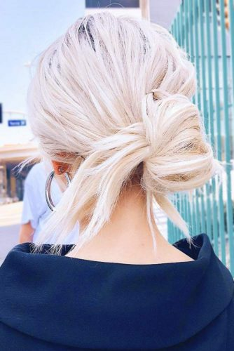 Simple Low Knot #updo #knot