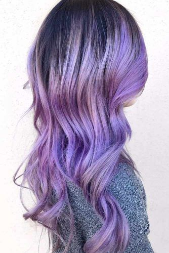 Periwinkle Blue Brunette #bluehair #purplehair