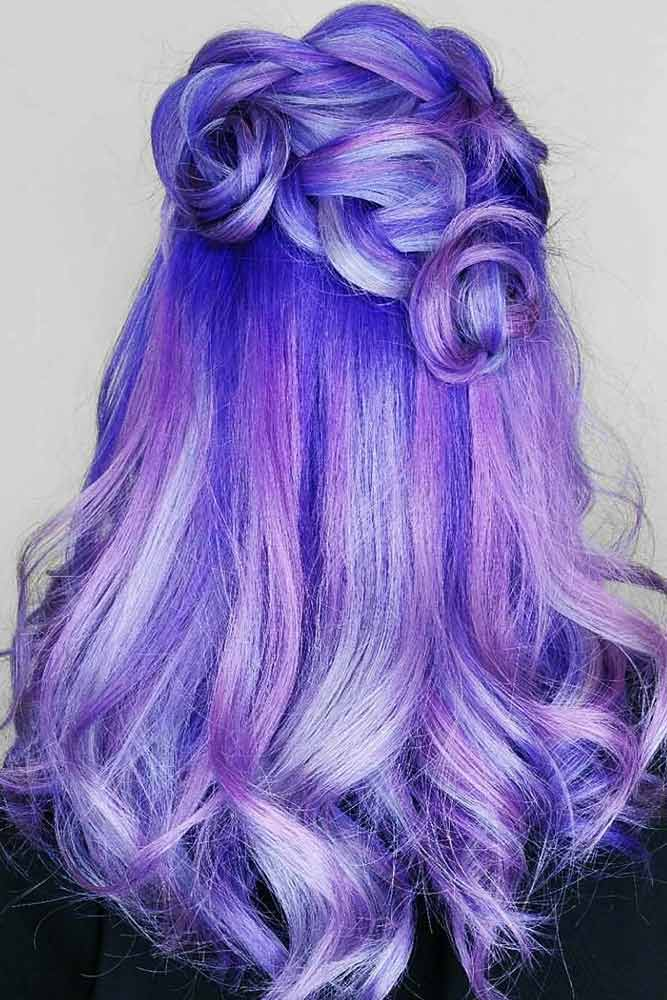 Palatinate Blue #highlighs #bluehair #purplehair
