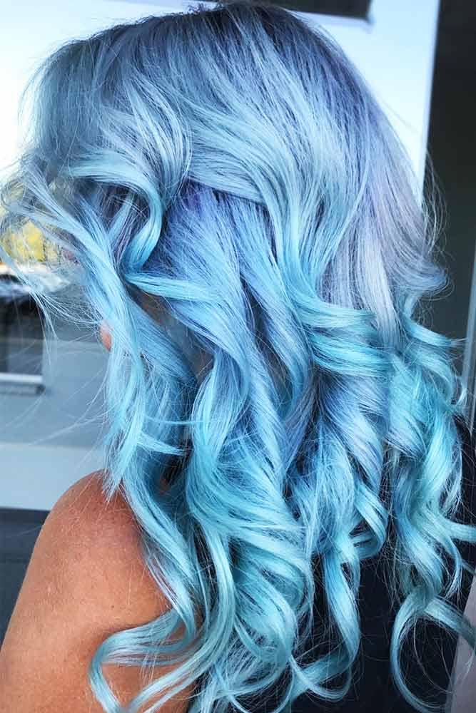 Powder Blue #bluehair