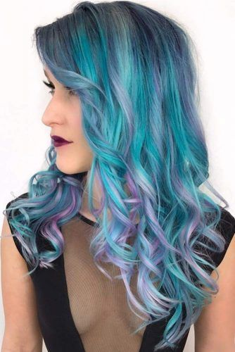 Powder Blue Highlights #highlights #bluehair