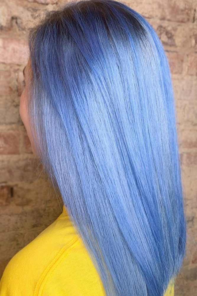 Denim Blue Straight #bluehair