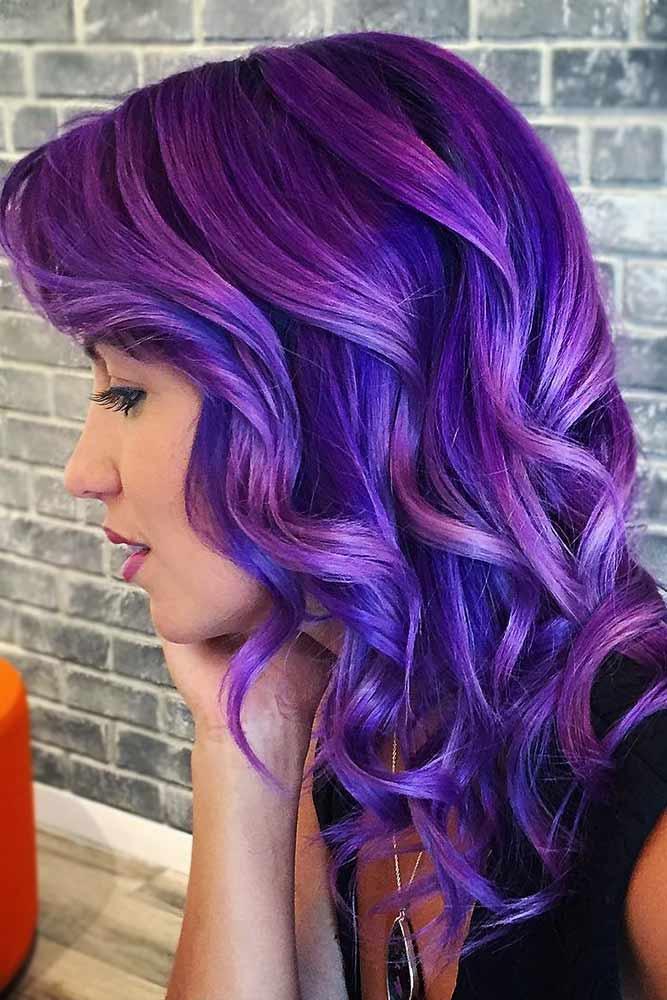 Electric Indigo Ombre #purplehair #bluehair