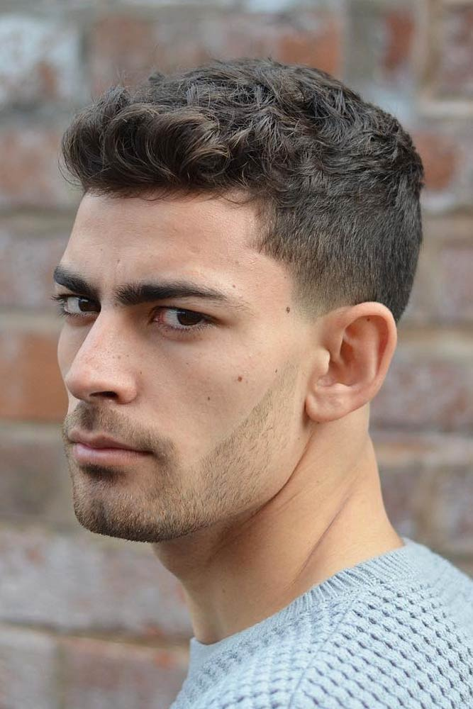 Curly Crew Cut With Quiff #crewcut #menhaircuts