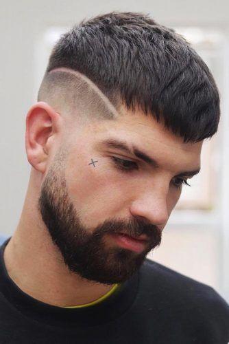 Surgical Line Crew Haircut Beard #crewcut