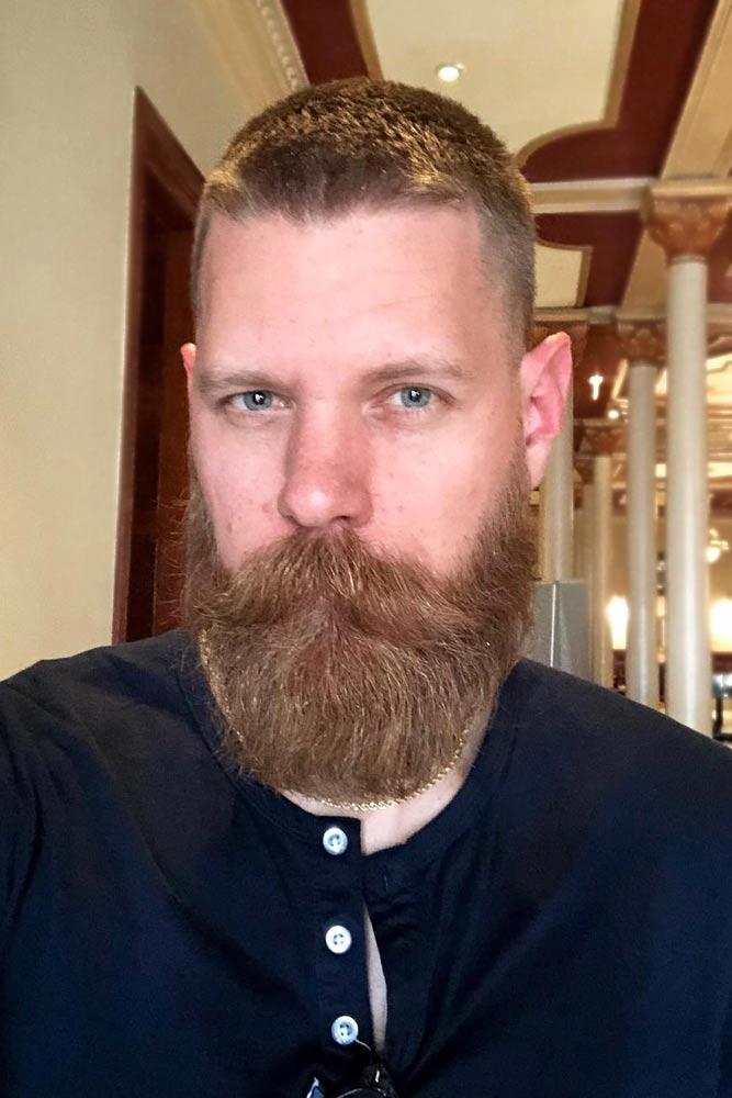 Crew Cut With A Beard #crewcut #menhaircuts