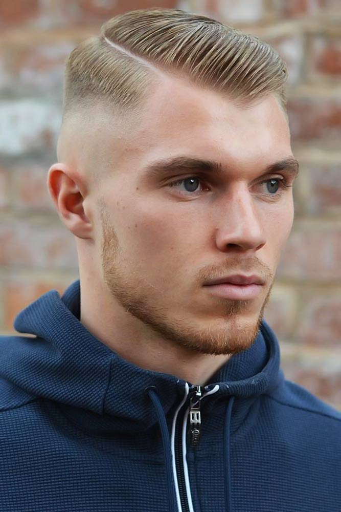 Hard Parted Crew Cut Sleek #crewcut