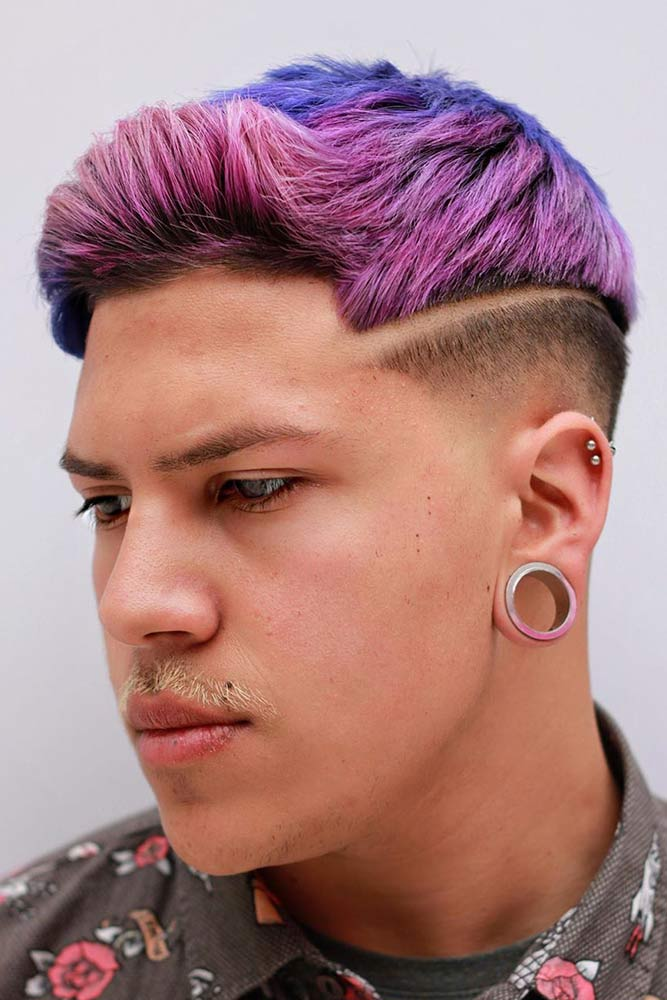 Surgical Line Crew Haircut Purple #crewcut