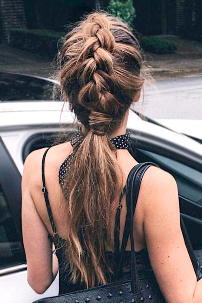 Ponytail with Dutch Braid picture3