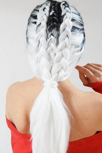 Dutch Mohawk Double #braids #dutchbraids