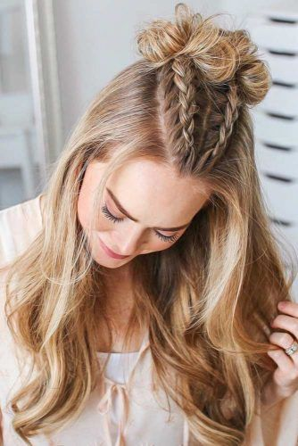 Double Dutch Style Braids Half-Up #braids #dutchbraids
