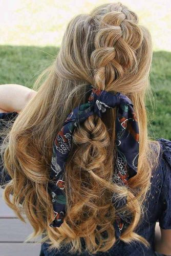 Dutch Braid Tutorial #blondehair #longhair #wavyhair #braids