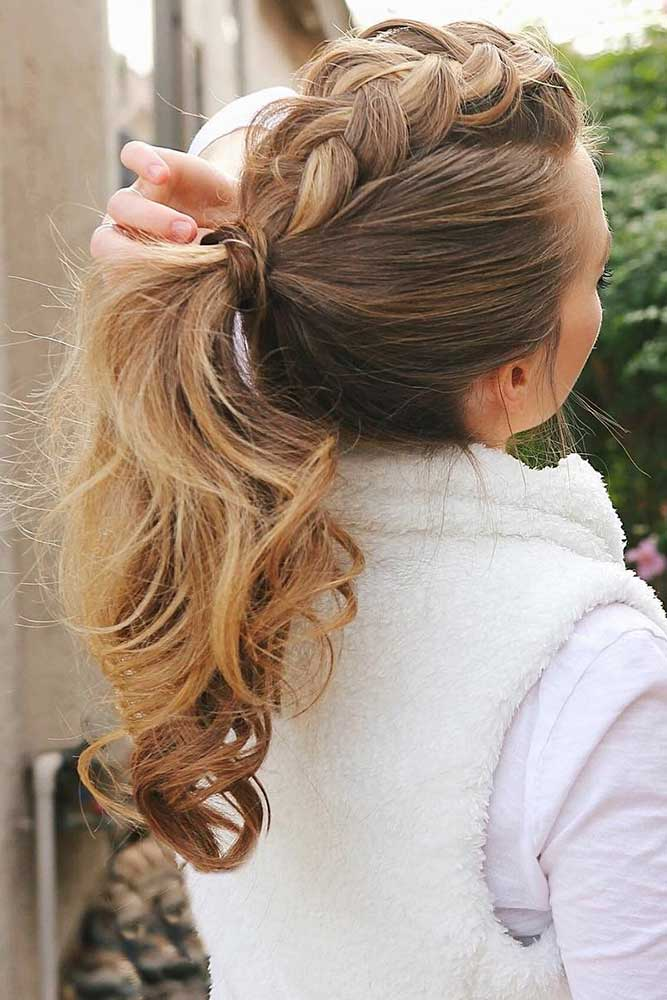 Ponytail with Dutch Braid picture1