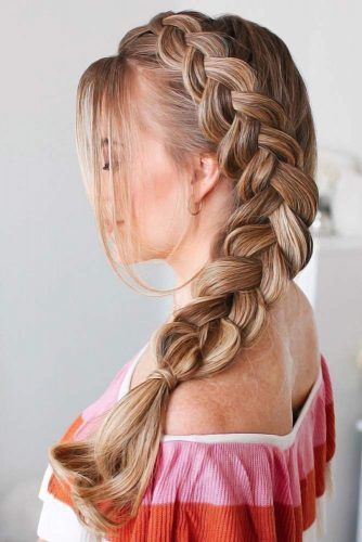 Side Dutch Braid Styles Bangs #braids #dutchbraids