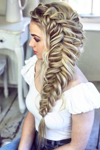 Dutch Fishtail Braid Messy #braids #dutchbraids