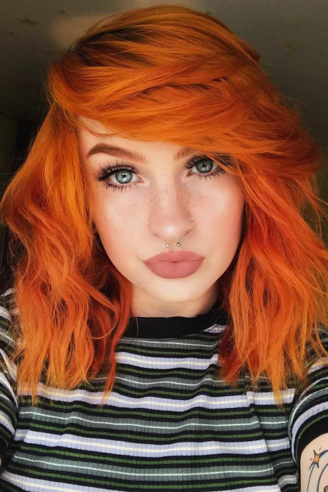 Emo Bob Styles Red #emohair #emohairstyles