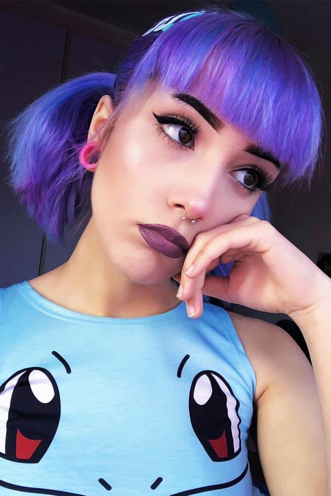 Short Emo Hair Styles Updo Ponytails #emohair #emohairstyles