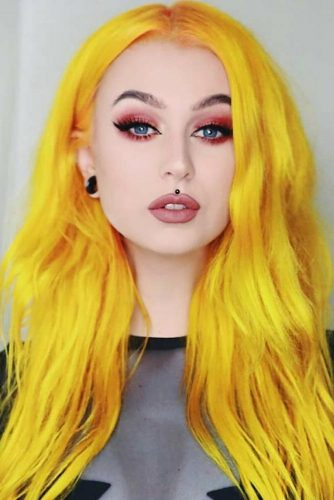 Yellow Emo Hair picture3