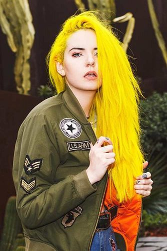 Yellow Emo Hair picture1