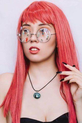 Long Emo Hair Styles With Bangs Red #emohair #emohairstyles