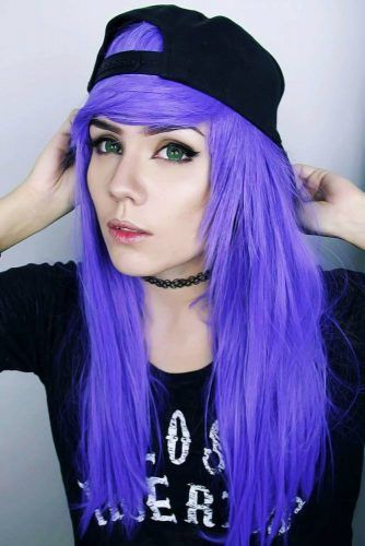 Long Emo Hair Styles With Bangs Purple #emohair #emohairstyles
