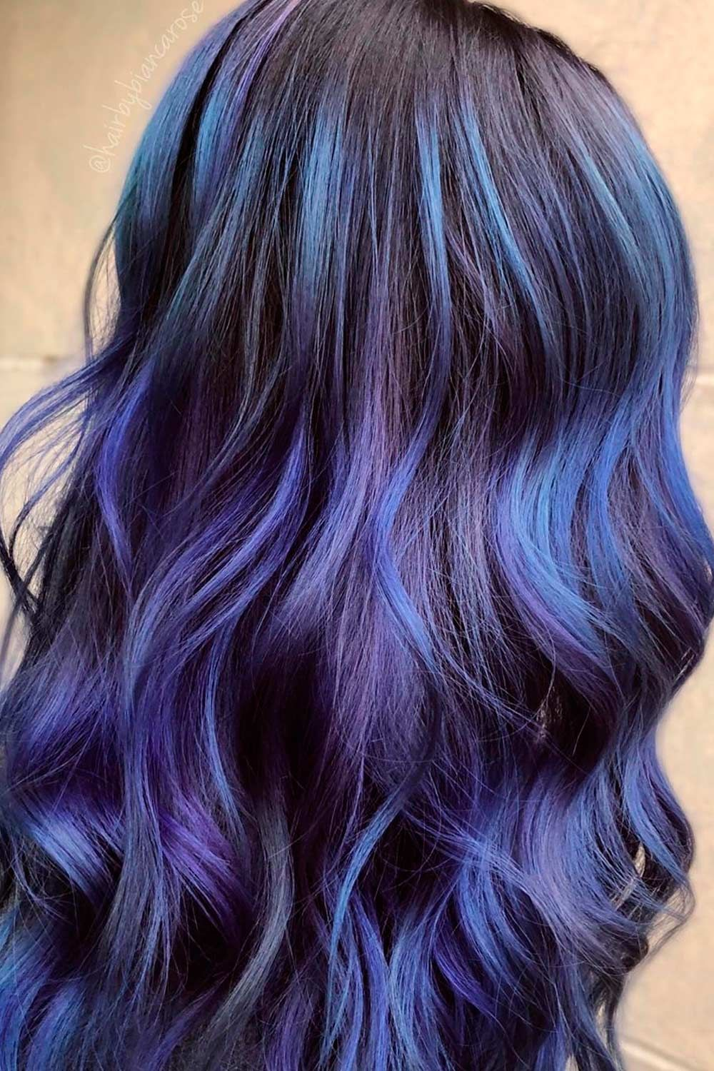 Highlighted Galaxy Hair On Dark Hair